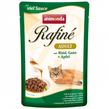 Animonda RAFINE ADULT паучи для кошек говядина, мясо гуся и яблоки 100гр